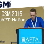 APTA CSM 2015 & The CashPT Nation