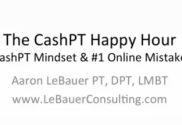 CashPT Happy Hour #1 cash-based physical therapy
