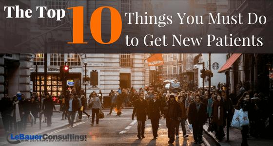 10 Ways to get new patients