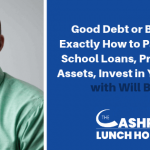 EP 055: Good Debt or Bad Debt, Exactly How to Pay Off Your School Loans, Protect Your Assets, Invest in Your Future with Will Butler